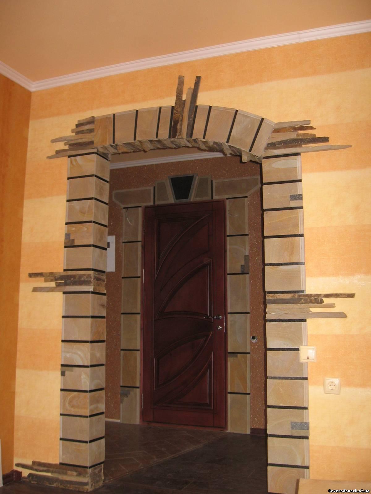 Как сделать арку для камина